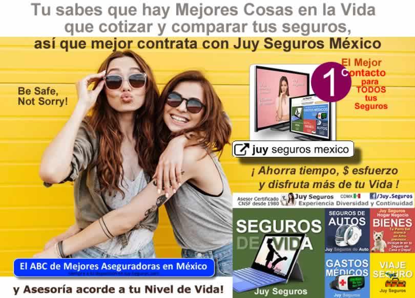 Ahorra tiempo dinero esfuerzo y disfruta mas de la Vida Contrata con Juy Seguros Mexico