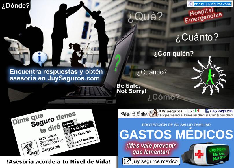 ¿Por qué cuestan más caros (aumentan suben incrementan varían) año con año los Seguros de Gastos Médicos en México? Averigua y resuelve con asesoría de JuySeguros.com