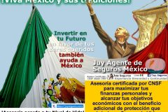 JuySeguros.com celebra la Independencia de México Contrata un Seguro de Vida en favor de tus beneficiarios y por México!