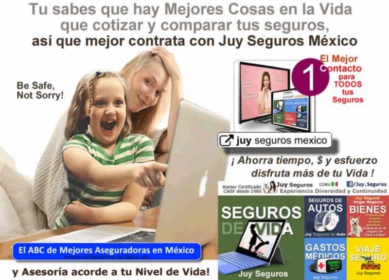Dedicate a mejores cosas en la vida, deja el cotizar y comparar tus seguros a un experto Juy Seguros México
