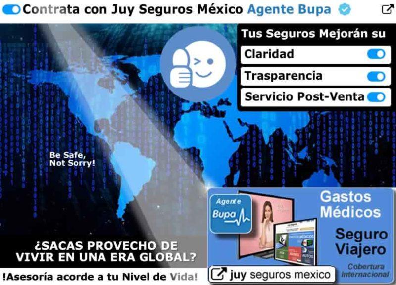 BUPA Seguros Cotizar Contratar Seguro de Salud Gastos Medicos Viajero en Mexico Agente Juy