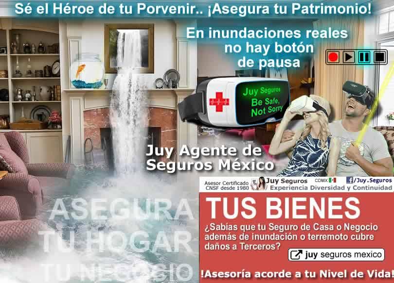 Juy Seguros Inundaciones en Mexico asegura tu negocio hogar patrimonio inmuebles