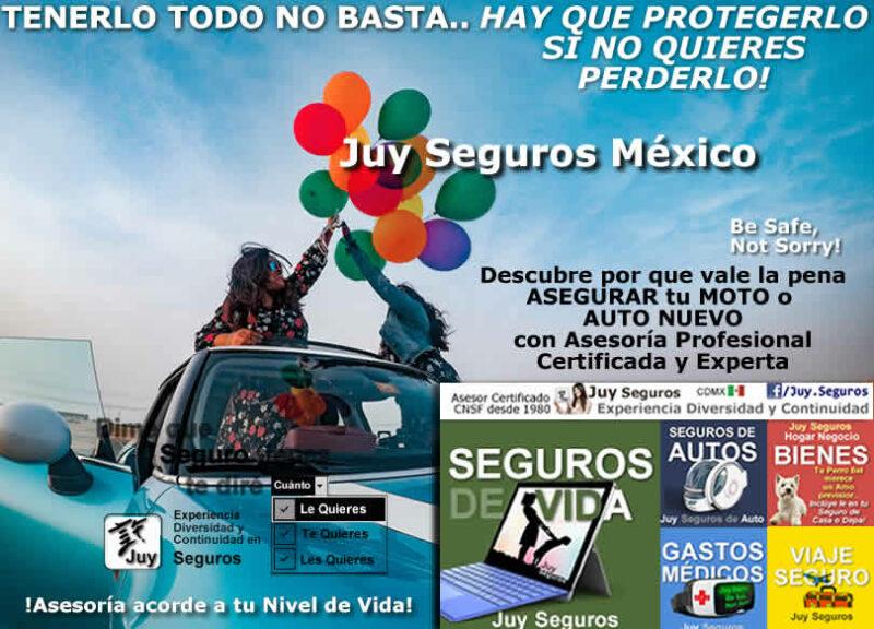 ¿Comprar Moto Auto Nuevo? Cotiza Asegura con Asesoría Juy Seguros México